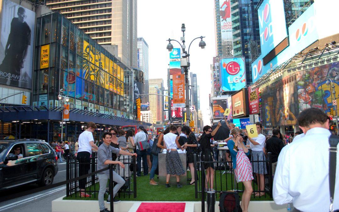 NewGrass in New York's Time Square